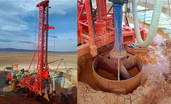 Drilling rigs play large aperture construction site in Xinjiang